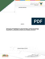 Estudios Previos Servicio Alquiler Planta Telefonica y Manten. Red