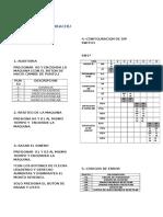 Manuales de configuración maquinas  Picachu