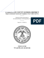 Audit of Washington County School District credit cards