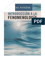 147842358 Jan Patočka Introduccion a La Fenomenologia