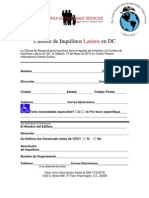 La Ti No Summit Registration Form (Spanish)