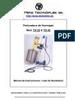 Perforadora Manual Th25 Th40 Es