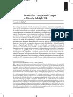Gallego, Seis Hipótesis Sobre Los Conceptos de Cuerpo y Sujeto