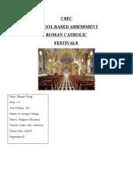 Religious Education School based assessment