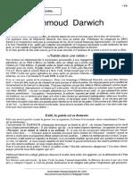 Mahmoud Darwich - à La Rencontre d'Un Poéte