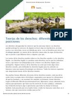 Teorías de Los Derechos_ Diferentes Posiciones - Ética Animal