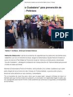 """11-03-16 Presentan """"Escudo Ciudadano"""" para prevención de delitos en Sonora. -Uniradio"""