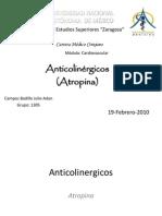 Anticolinergicos y Antianginosos