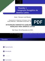 Apresentação - Resenha 1 - Integração Energética Da América Latina