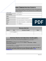 Software Demonstration Scripts Template
