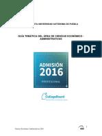 BUAP Guía 2016_Economico_Administrativas
