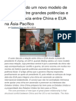 A Concorrência entre China e EUA na Ásia-Pacífico