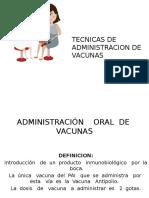 Tecnicas de Administracion de Vacunas