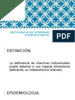 Deficiencia de Vitaminas Hidrosolubles