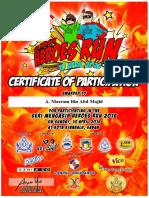 Heroes Run Certificate 2016