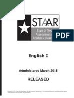 Staar Eoc 2015test Eng1