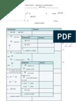Activity Sheet Triangle Congruence