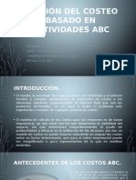 Gestión Del Costeo Basado en Actividades ABC