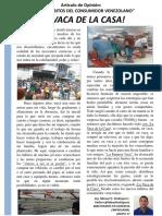 Trabajo Individual Los Nuevos Hábitos Del Venezolano - LA VACA de LA CASA - 12 04 16