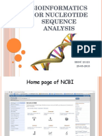 Bioinformatics for Nucleotide Sequence Analysis