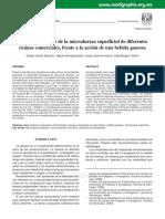 Evaluación in Vitro Microdureza Superficial de Diferentes Resinas