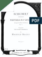 Schubert - Four Hands Fantasie in F Minor