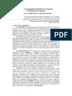 Historia de la Ing. Estructural Venezolana