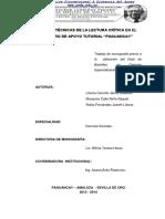 2013 2014 N0062 Ueda Pagcay Tecnicas de La Lectura Critica Del Centro de Apoyo Tutorial Paguancay Opt