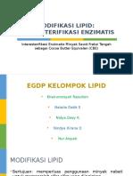 Interesterifikasi Lipid