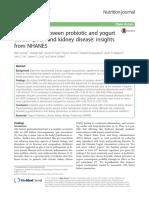 Association Between Probiotic and Yogurt