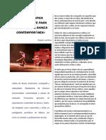 Qué Significa Políticamente Para Nosotros La Danza Contemporánea