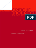 Karatani, Kojin - Transcritique on Kant and Marx[1]