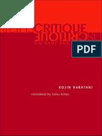 Karatani, Kojin - Transcritique on Kant and Marx[1]