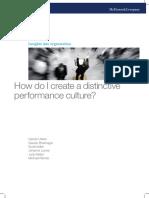 How Do I Create a Distinctive Performance Culture