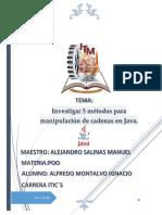 5 Métodos Para Manipulación de Cadenas en Java.