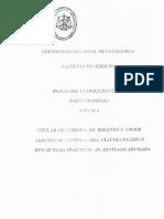 Programa Derecho Civil I - Nuevo CCyC 2016