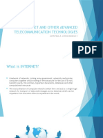 Internet and Other Advanced Telecommunication Technologies