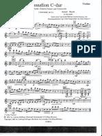 Cassation Do M (Haydn) - VIOLÍN