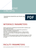 Transmission Parameters (Facility & Interface Parameters)