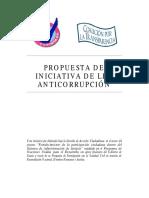 Iniciativa de Ley Anti - Corrupcion