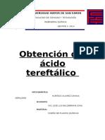 Obtención de Acido Tereftalico