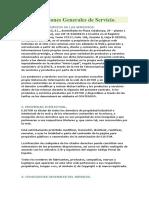 Contrato Formatos Condiciones Generales de Servicio