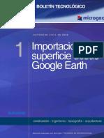 Boletin n 01 Importacion de Superficies Desde Google Earth