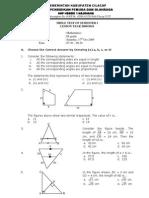 Mathematics Test Grade IX SMP