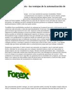 Forex Trading Robots - las ventajas de la automatizaci?n de Trading