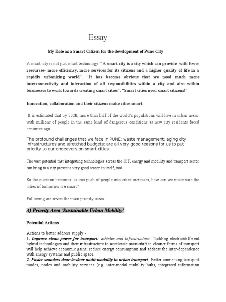 essay my role as a smart citizen for the development of pune city essay my role as a smart citizen for the development of pune city smart grid infrastructure