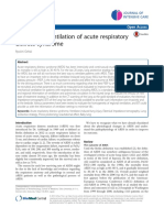 Mechanical Ventilation of Acute Respiratory