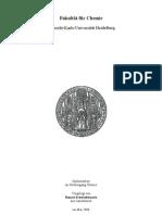Untersuchung zur katalytischen Partialoxidation von Methan an mit Rhodium beladenen Monolithen
