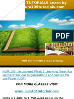HUM 105 TUTORIALS Learn by Doing-hum105tutorials.com