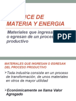 Materiales Que Ingresan y Salen Del Proceso